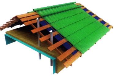 Холодная крыша из металлочерепицы без гидроизоляции