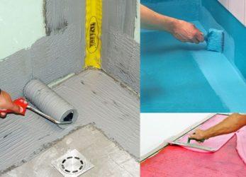 Укладка плитки на гидроизоляцию в ванной