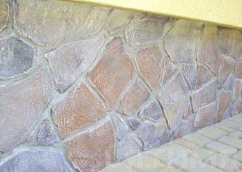 Штукатурка цоколя под камень своими руками