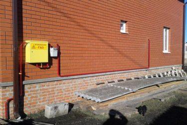 Газовая труба по фасаду дома нормы