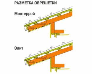 Шаг обрешетки под металлочерепицу