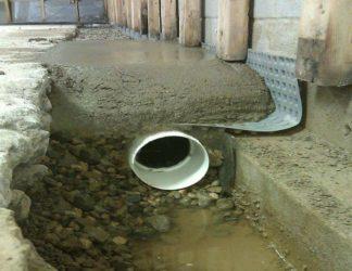 Осушение подвала от грунтовых вод