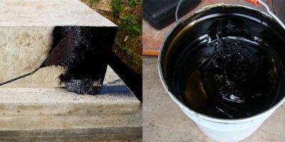 Приготовление битумной мастики для гидроизоляции