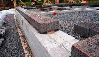 Цоколь из керамзитобетона архитектурный бетон ступени
