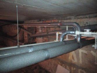 Изоляция трубопроводов отопления в подвале по СНИП